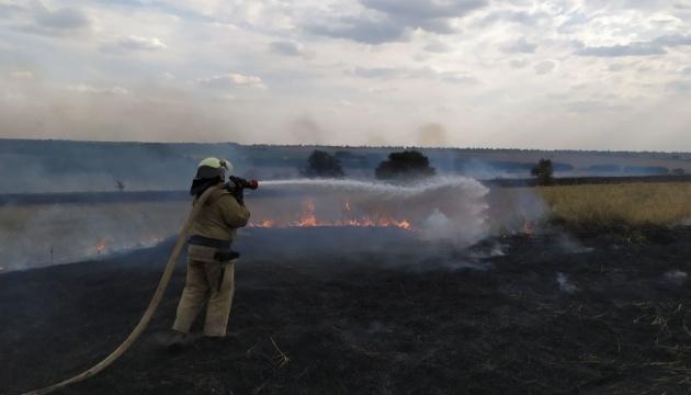 Пожежі на Луганщині: рятувальники ліквідували чотири з восьми осередків