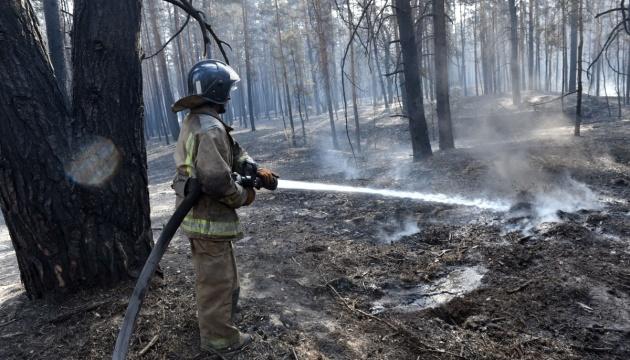На Луганщині загасили один осередок пожежі й локалізували ще чотири — ДСНС