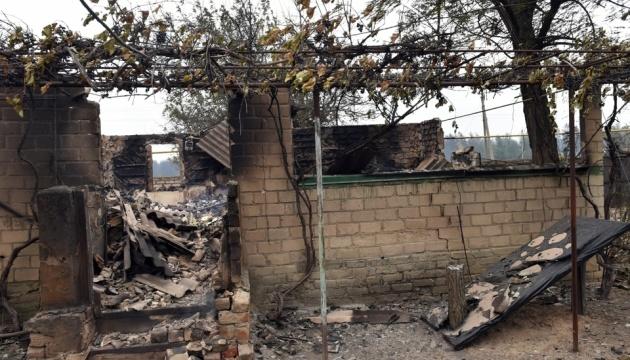 Пожежа біля Станиці Луганської: ОБСЄ не фіксують «істотної шкоди спорудам»