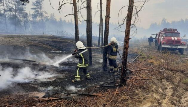 На Луганщині локалізували п'ять із шести осередків лісових пожеж