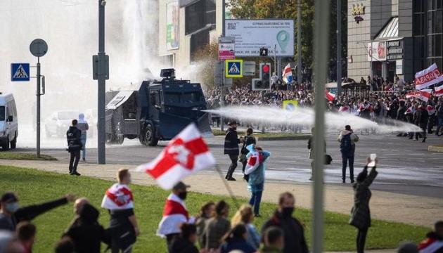 У Мінську використовують водомети проти учасників акції протесту