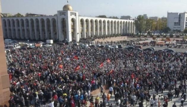 В Кыргызстане после парламентских выборов начались митинги