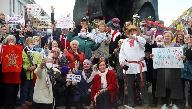 «Фашизм не пройде»: у Мінську — мітинг пенсіонерів проти Лукашенка