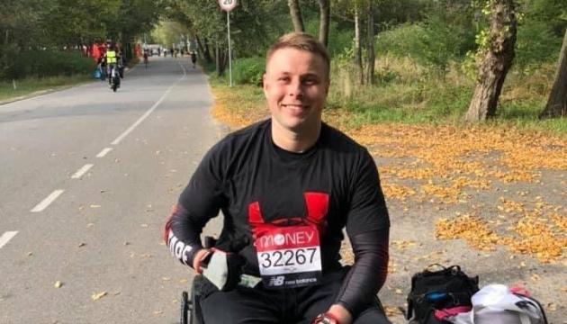 Ветеран-десантник на візку здолав Лондонський марафон у Києві