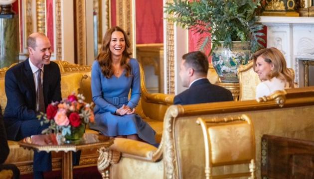 Ukraine's presidential couple meet with Duke and Duchess of Cambridge