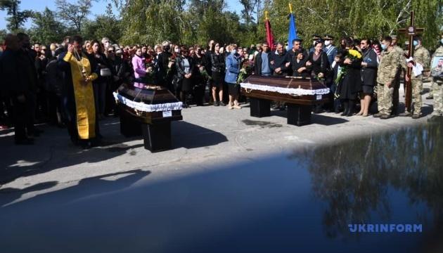У Мелітополі попрощалися із загиблими в авіакатастрофі Ан-26