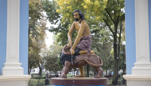 Відреставрували найстаріший київський фонтан «Самсон»