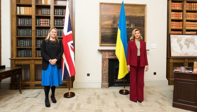 Зеленська і баронеса - член Палати лордів Британії обговорили протидію домашньому насильству