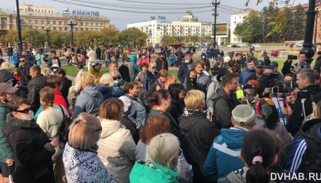 У Хабаровську люди знову вийшли на площі - після силового розгону напередодні