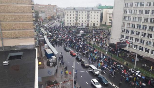У Мінську - зіткнення протестувальників із силовиками