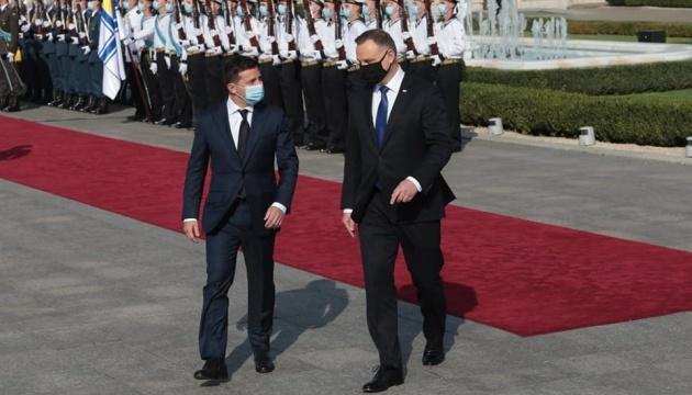 Zelensky y Duda se reúnen en el Palacio Mariinski