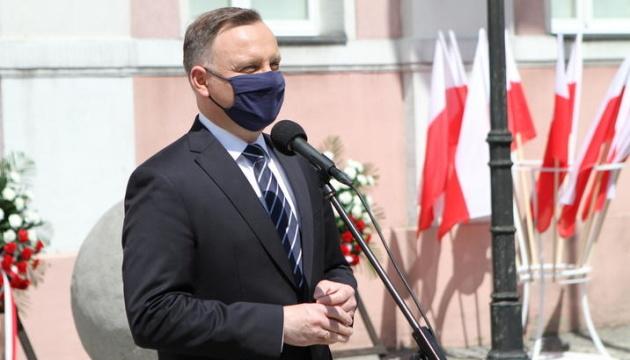 Andrzej Duda commemorates Holodomor victims in Kyiv