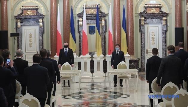 Crimea, Donbas, reforms: Zelensky, Duda make joint statement