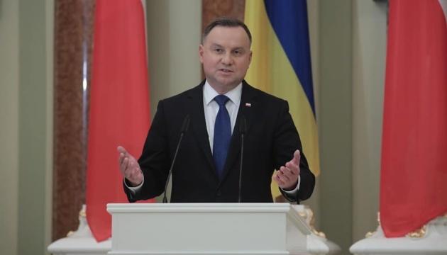 Sankcje wobec Rosji powinny obowiązywać do całkowitej deokupacji Donbasu i Krymu – Duda