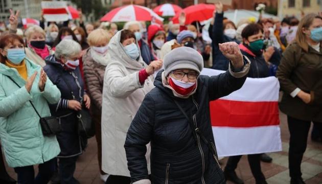 В Беларуси на акции протеста вышли пенсионеры
