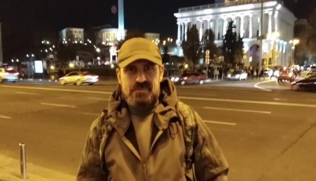 Ветеран ООС, який учинив спробу самоспалення на Майдані, у комі - ЗМІ