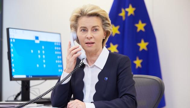 Фон дер Ляйен - Зеленскому: ЕС хочет помочь Украине в борьбе с COVID-19