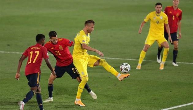 Збірна України обіграла іспанців у матчі Ліги націй УЄФА