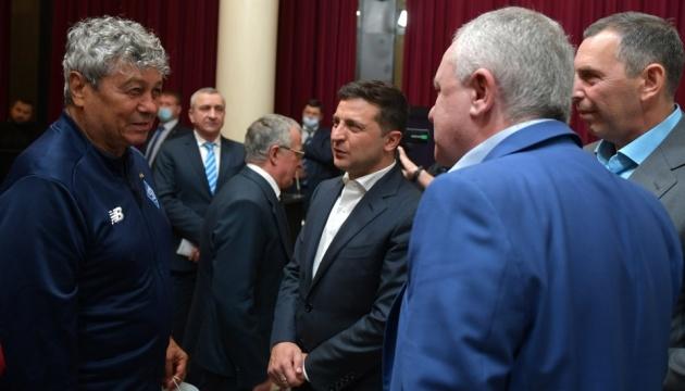 Zelensky se reúne con veteranos del Dynamo Kyiv