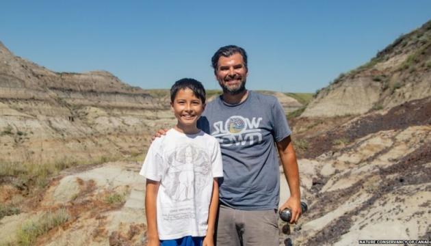 В Канаде 12-летний мальчик нашел скелет динозавра