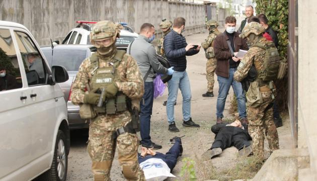 СБУ в Киеве ловила «террористов» и освобождала «заложников»