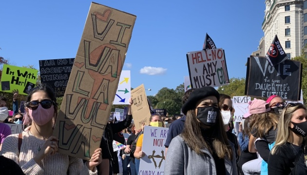 В США состоялись женские марши против переизбрания Трампа