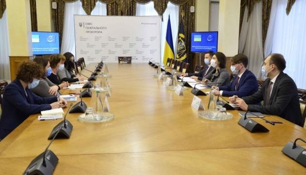 La fiscal general Venediktova se reúne con representantes del Consejo de Europa