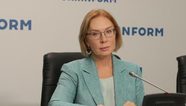 Denísova: 251 ucranianos cautivos en el Donbás