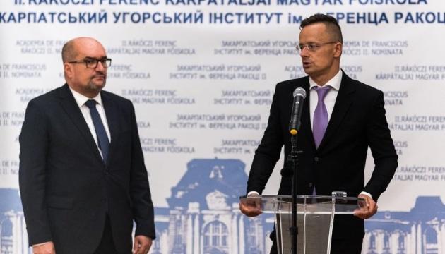 """Ungarischer Außenminister warb am Wahltag für """"Partei der Ungarn in der Ukraine"""""""