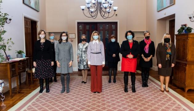 Olena Zelenska meets with women ambassadors of foreign countries to Ukraine