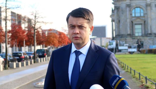 Razumkov: Ukraine seeks to get German multipartisan support