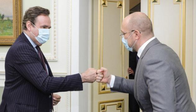 Die Ukraine am Ausbau der Zusammenarbeit mit EIB im Bereich Energie und Infrastruktur interessiert - Schmyhal