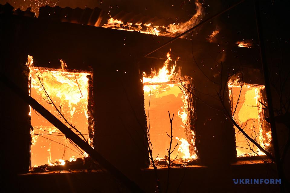 На Луганщині тривають масштабні пожежі / Фото: Олексій Ковальов. Укрінформ