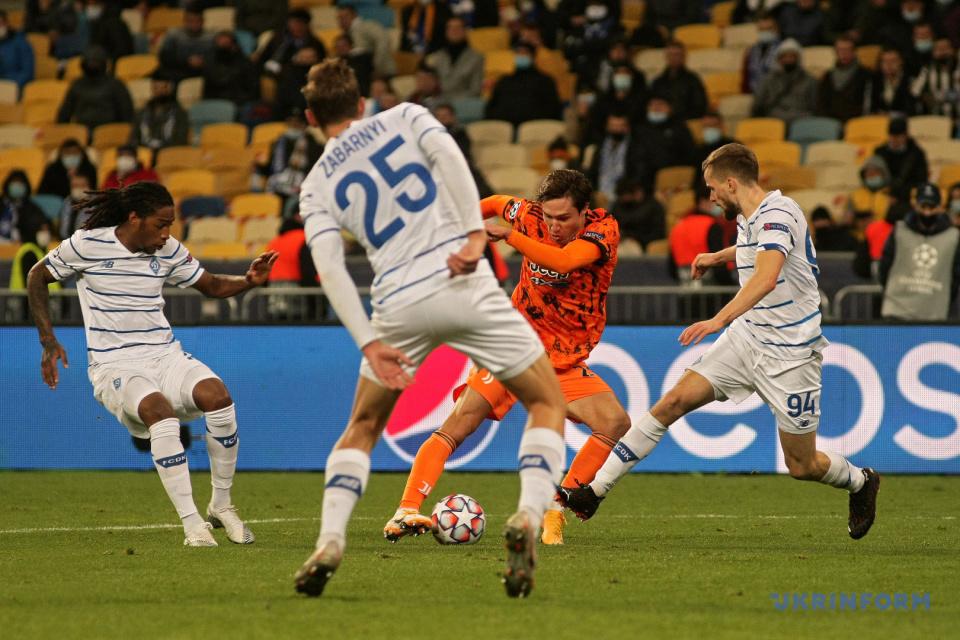 Le Dynamo a perdu contre la Juventus à Kyiv/ Photo: Yevhen Kotenko, Ukrinform
