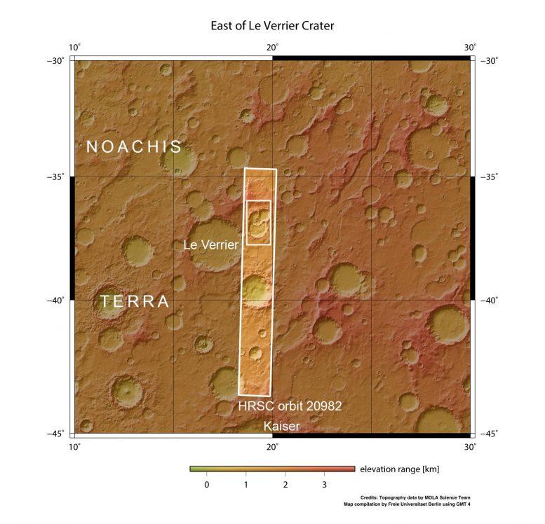 Межпланетная станция сделала снимок тройного кратера на Марсе