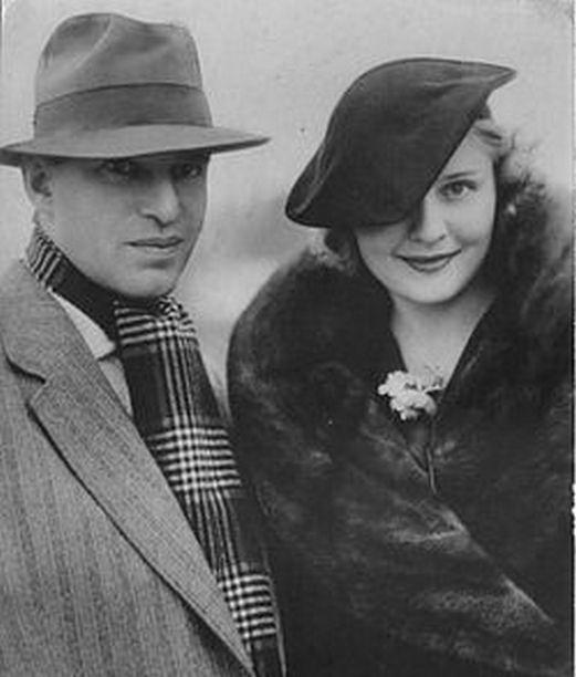 Анна Стэн с первым мужем, советским режиссером Федором Оцепом 1