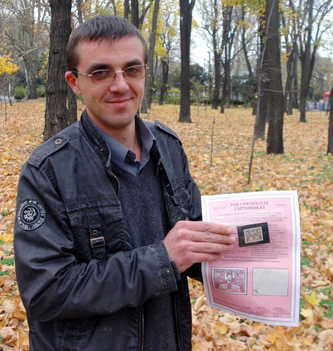 Дослідник, публіцист і колекціонер із Білгорода-Дністровського Одеської області Євген Грищенко 8 листопада 2010 року.