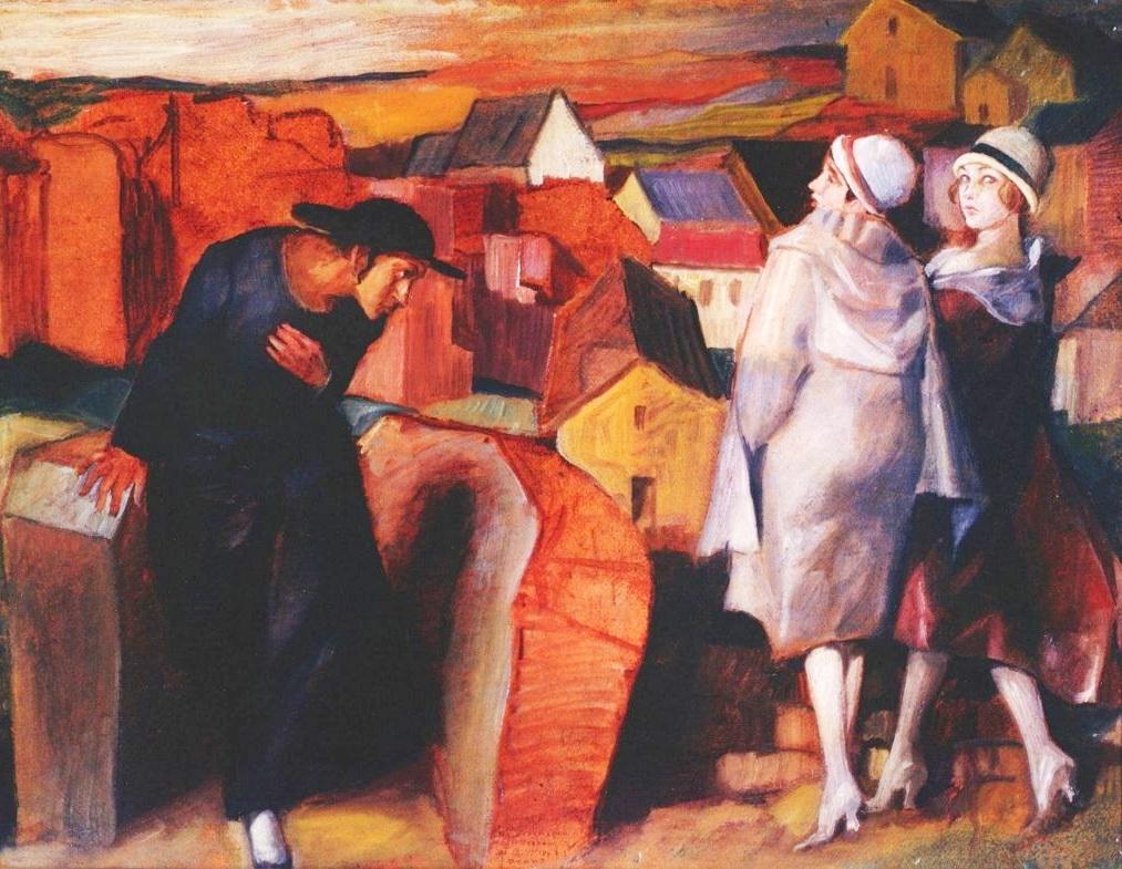 «Зустріч», єдина вціліла картина Бруно Шульца, написана олією