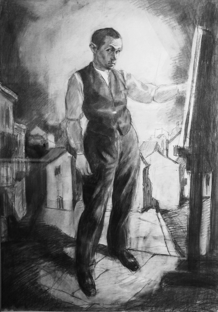 Автопортрет, Бруно Шульц, 1921 р. А