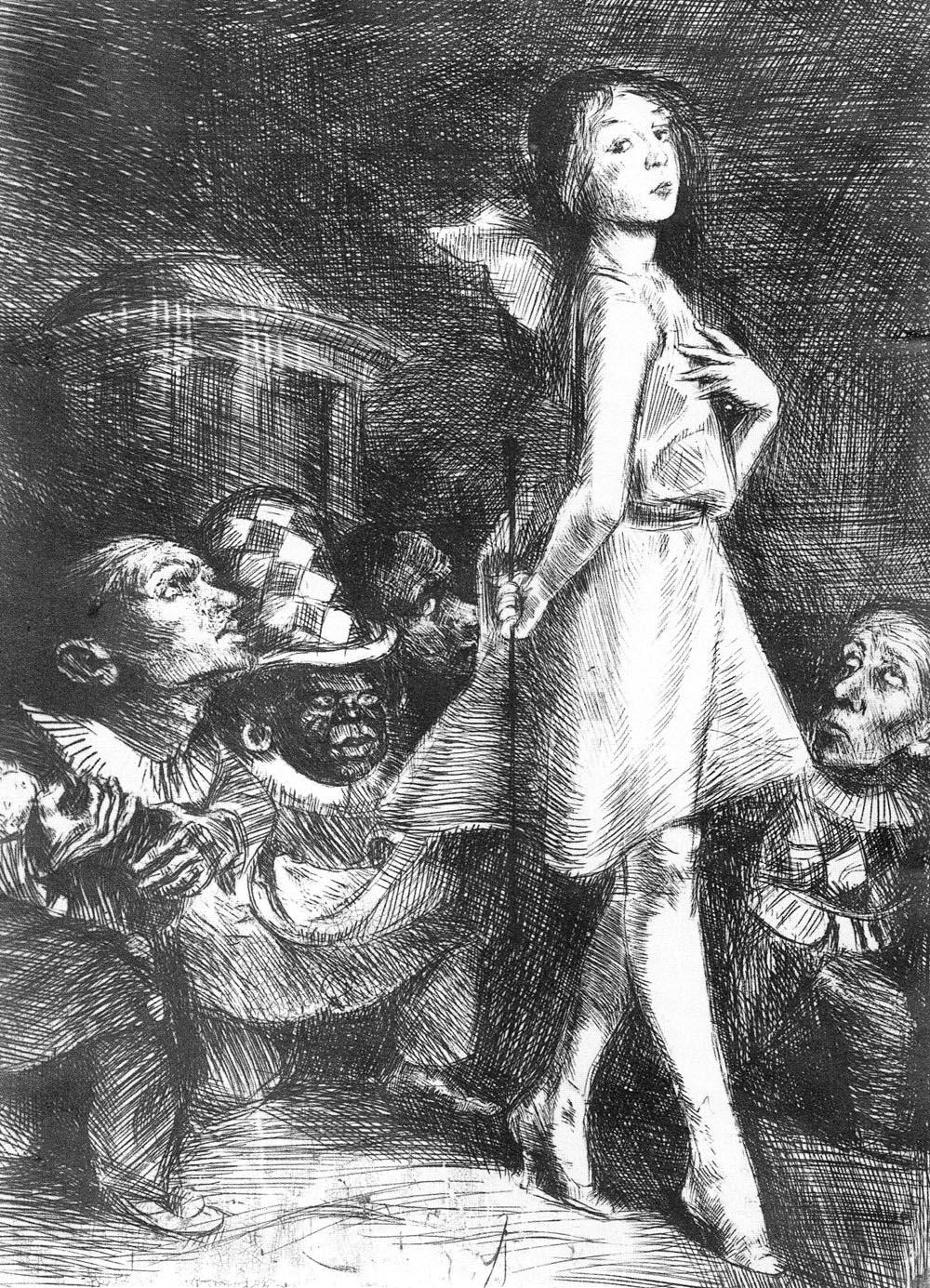 Інфанти та її гноми, 1920-1922, кліше-верре, 18 х 13 см