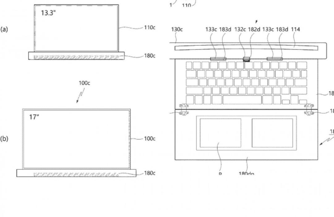 Погоня за мобильностью: LG запатентовала ноутбук, также растягивается