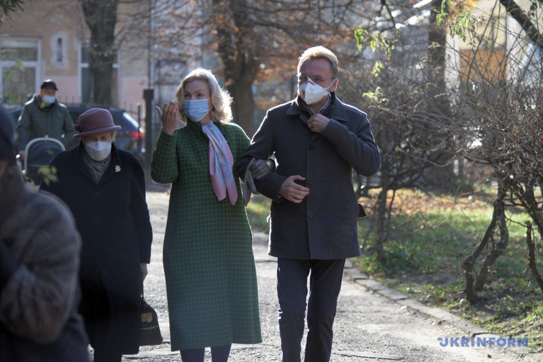 Андрій Садовий із дружиною