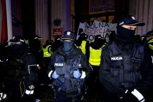 В Варшаве продолжаются антиправительственные протесты