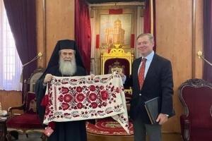 Посол Украины обсудил с иерусалимским патриархом развитие ПЦУ