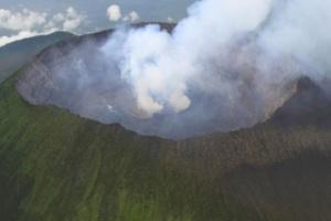 Las fuerzas de paz ucranianas aterrizan en el cráter de un volcán activo en el Congo