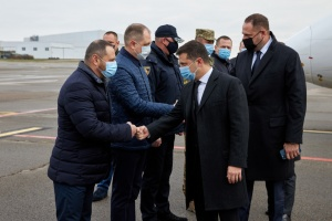 President arrives in Dnipropetrovsk region