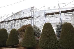 В ботсаду Запорожья завершили возведение современной оранжереи
