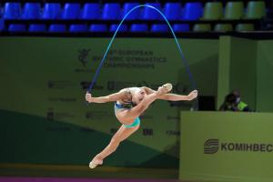 В Києві стартував чемпіонат Європи з художньої гімнастики