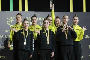 Збірна України завоювала золоті медалі в другий день ЧЄ з художньої гімнастики