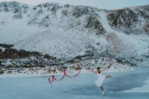 Украинская инструктор станцевала на коньках на замерзшем Бребенескуле